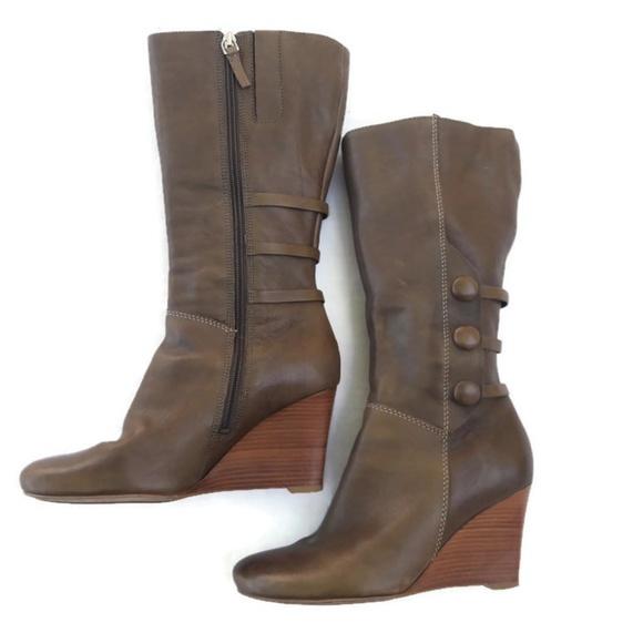 8df9d57c60 ecco Boots Lulea Wedge Full Zip Mid Calf 38